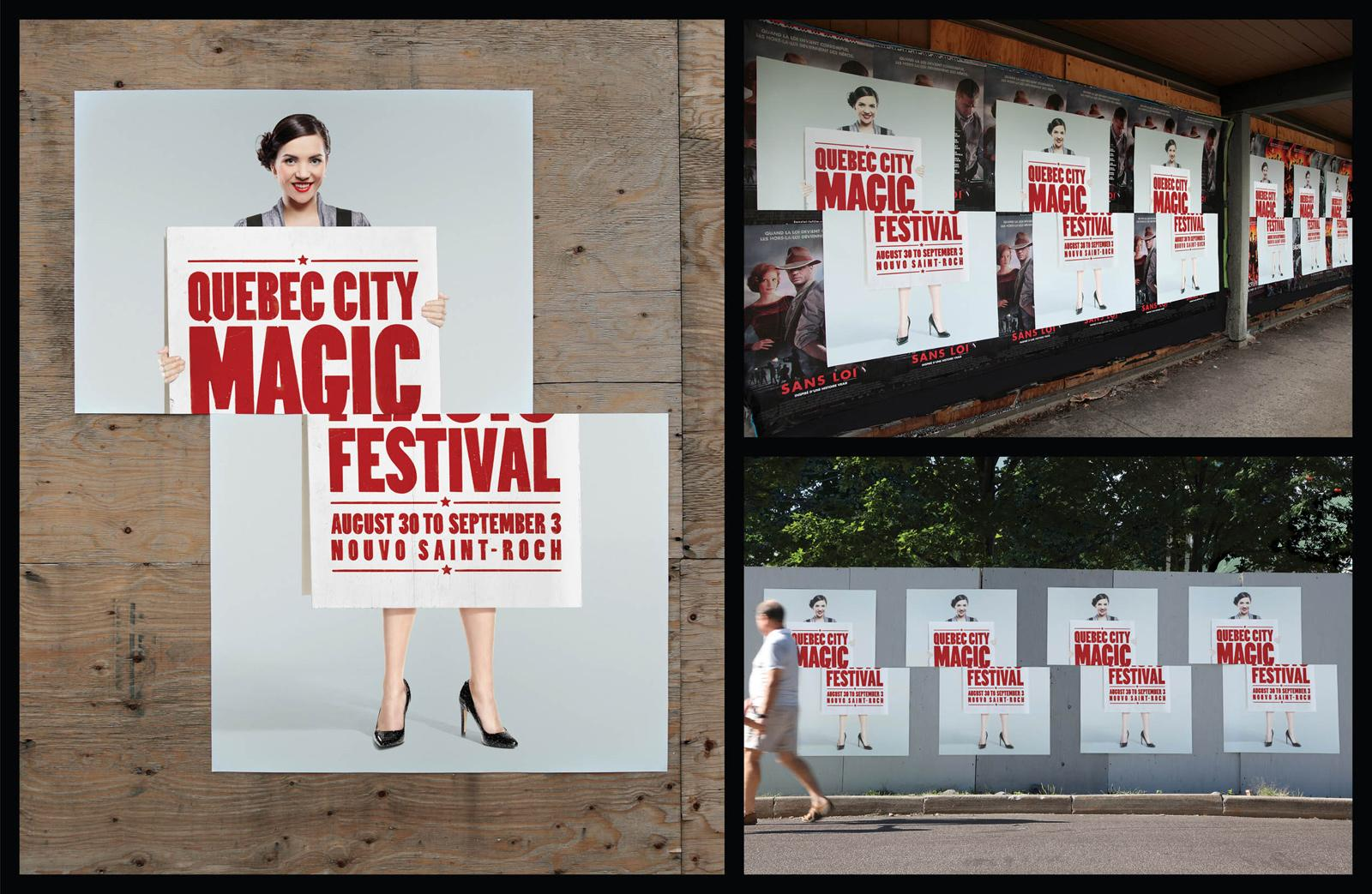 Quebec city magic festival Outdoor Ad -  Sliced Girl