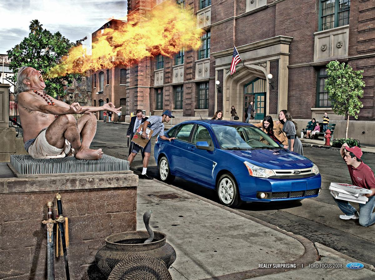 Ford Print Ad -  Fire eater