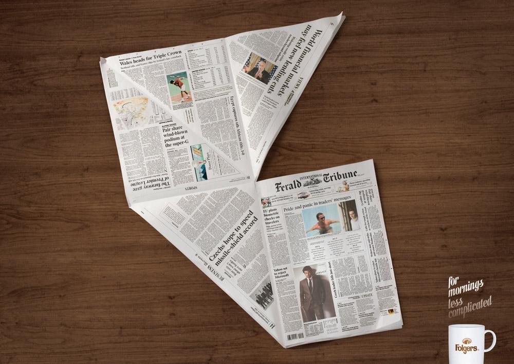 Folgers Print Ad -  Paper