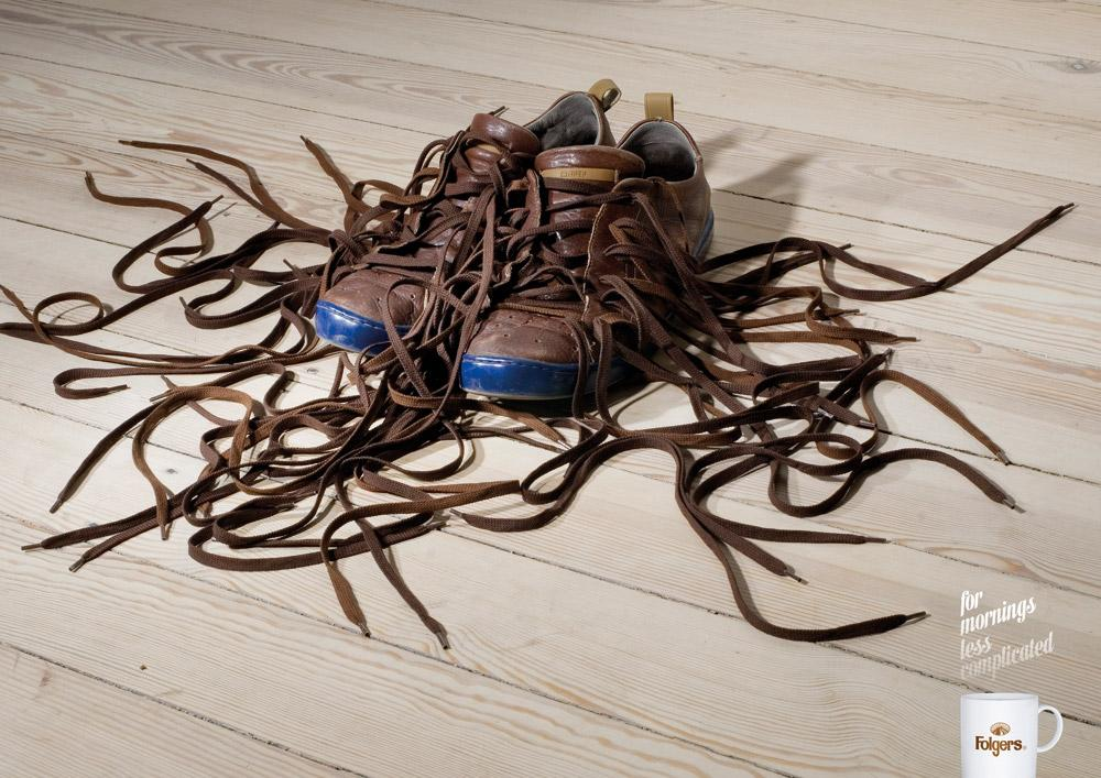 Folgers Print Ad -  Shoes
