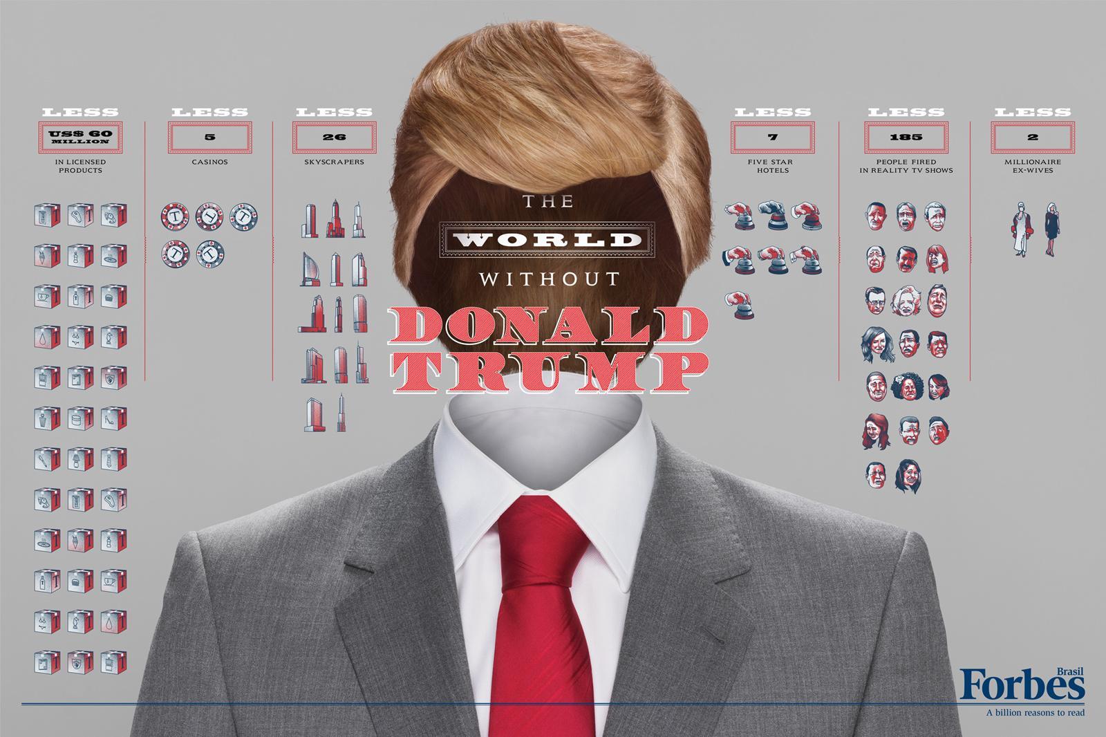 Forbes Print Ad -  Billionaires, Donald Trump