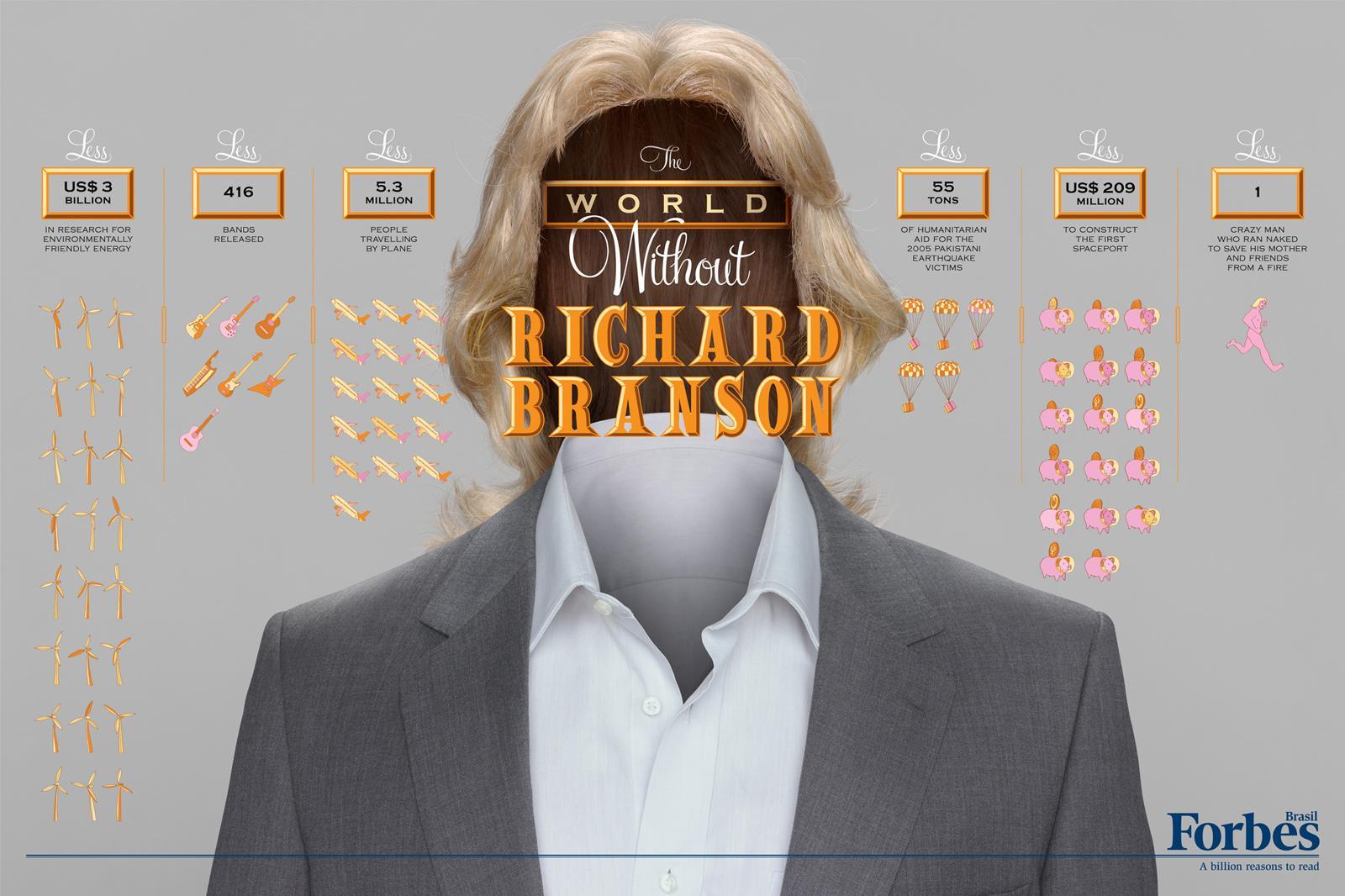 Forbes Print Ad -  Billionaires, Richard Branson