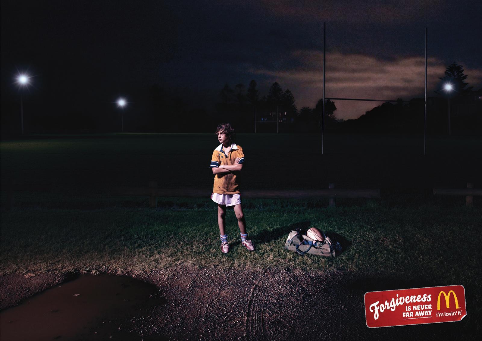 McDonald's Print Ad -  Forgiveness, Rain