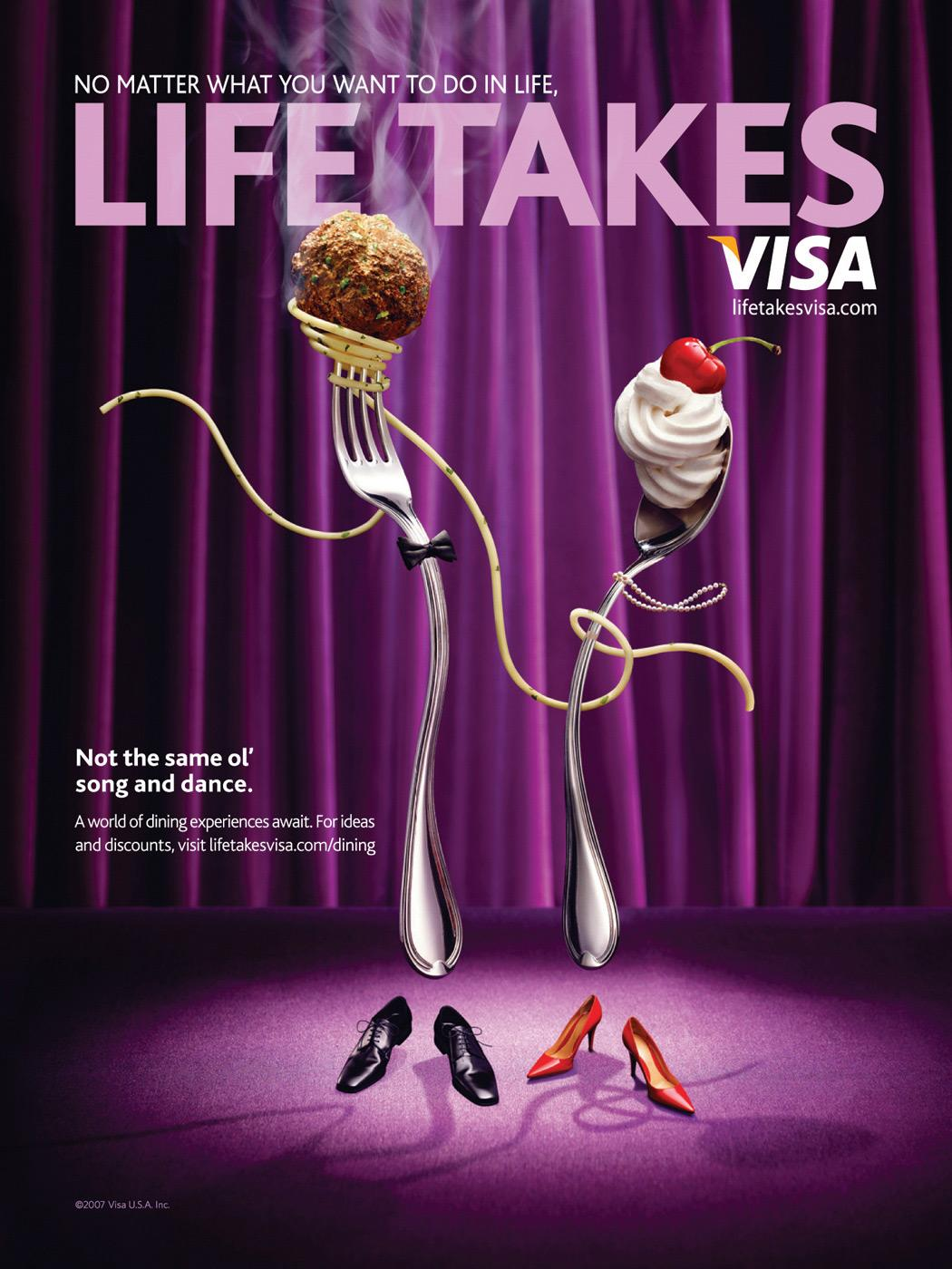 Life Takes Visa, Fork & Spoon