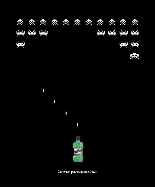 Forterine Print Ad -  Space Invaders