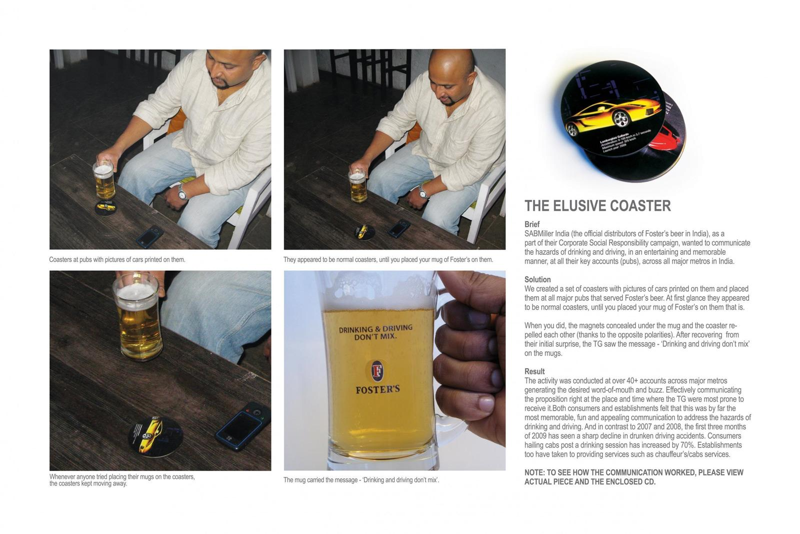 Foster's Ambient Ad -  Coasters