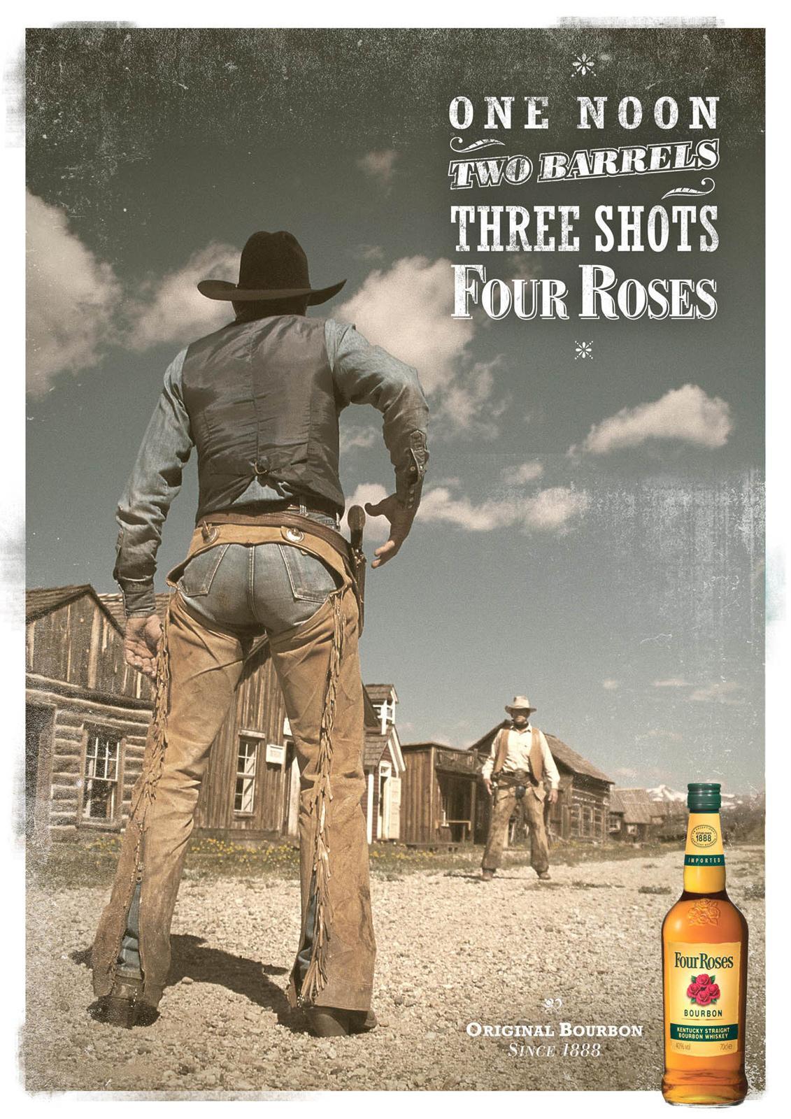 Four Roses Bourbon Print Ad -  Barrels