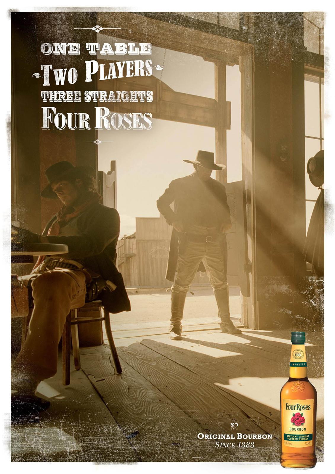 Four Roses Bourbon Print Ad -  Straights
