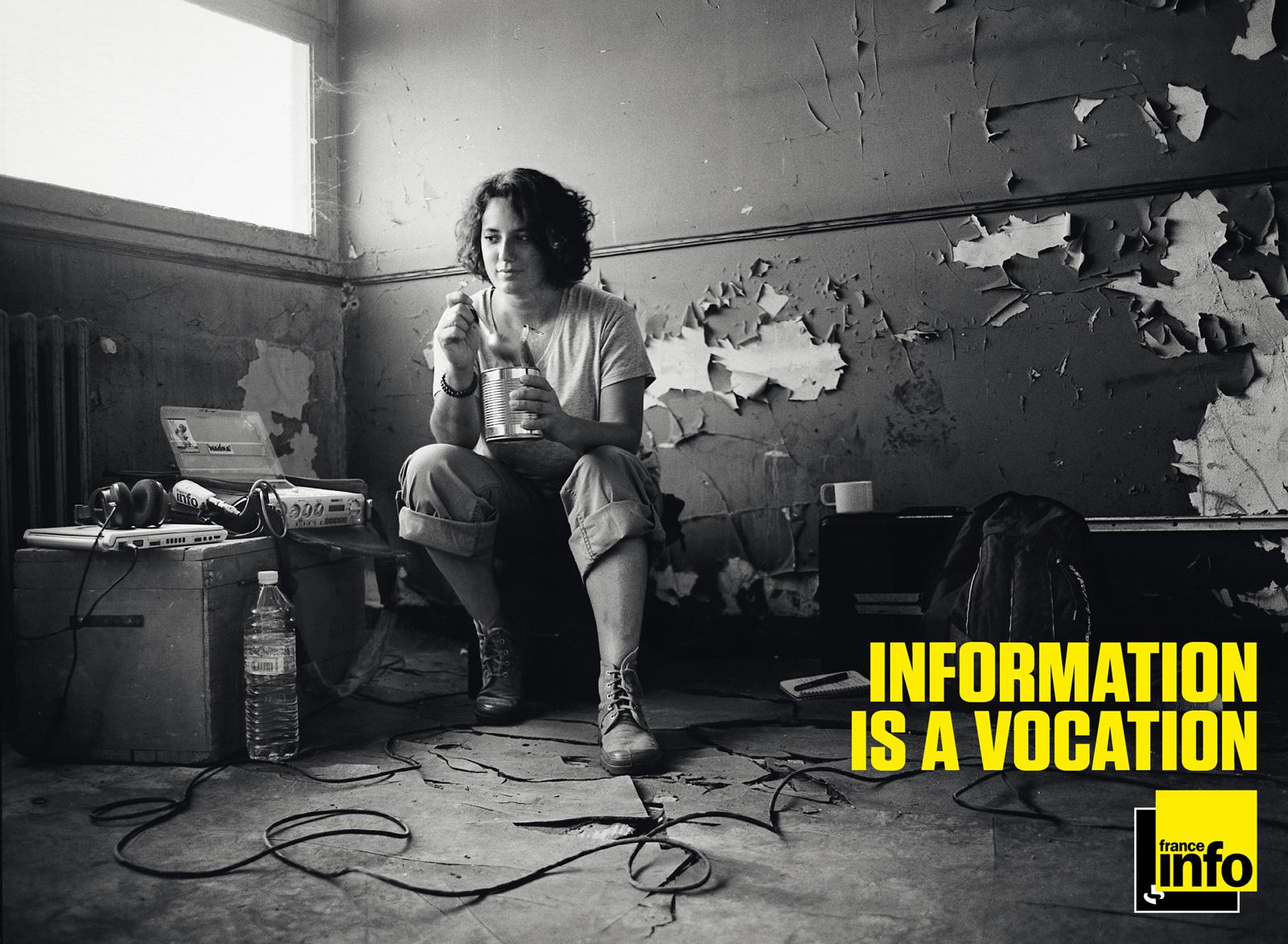 France Info Print Ad -  Information is a vocation, 2