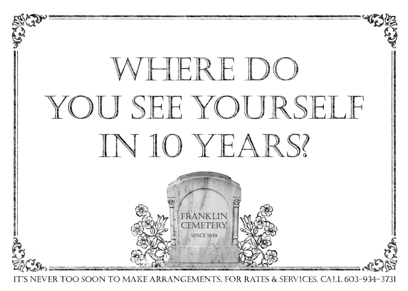 Franklin Cemetery Print Ad -  10 years