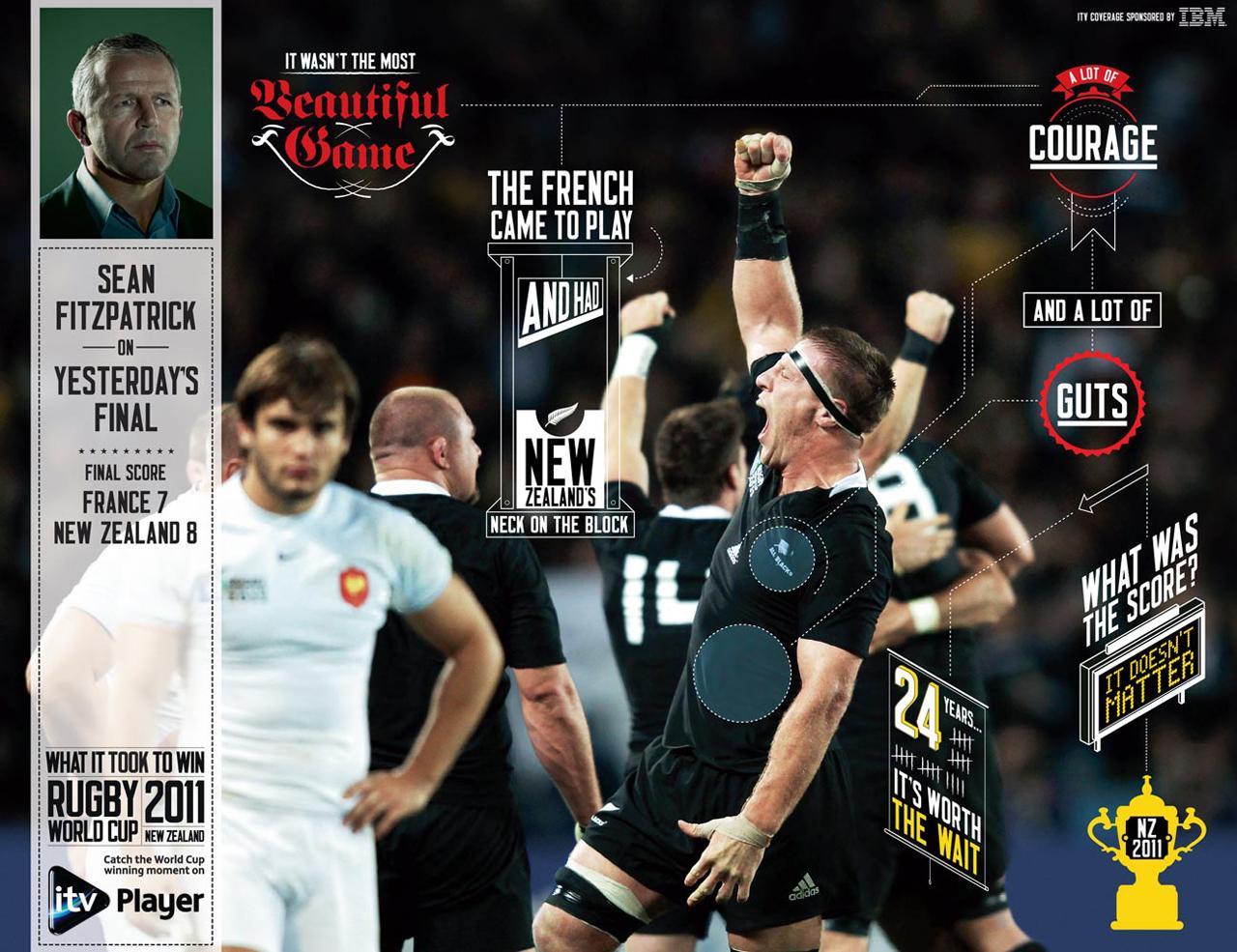 ITV Print Ad -  Live Press - Fra vs Nzl
