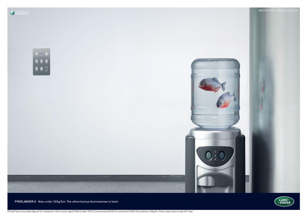 Land Rover Print Ad -  Fish