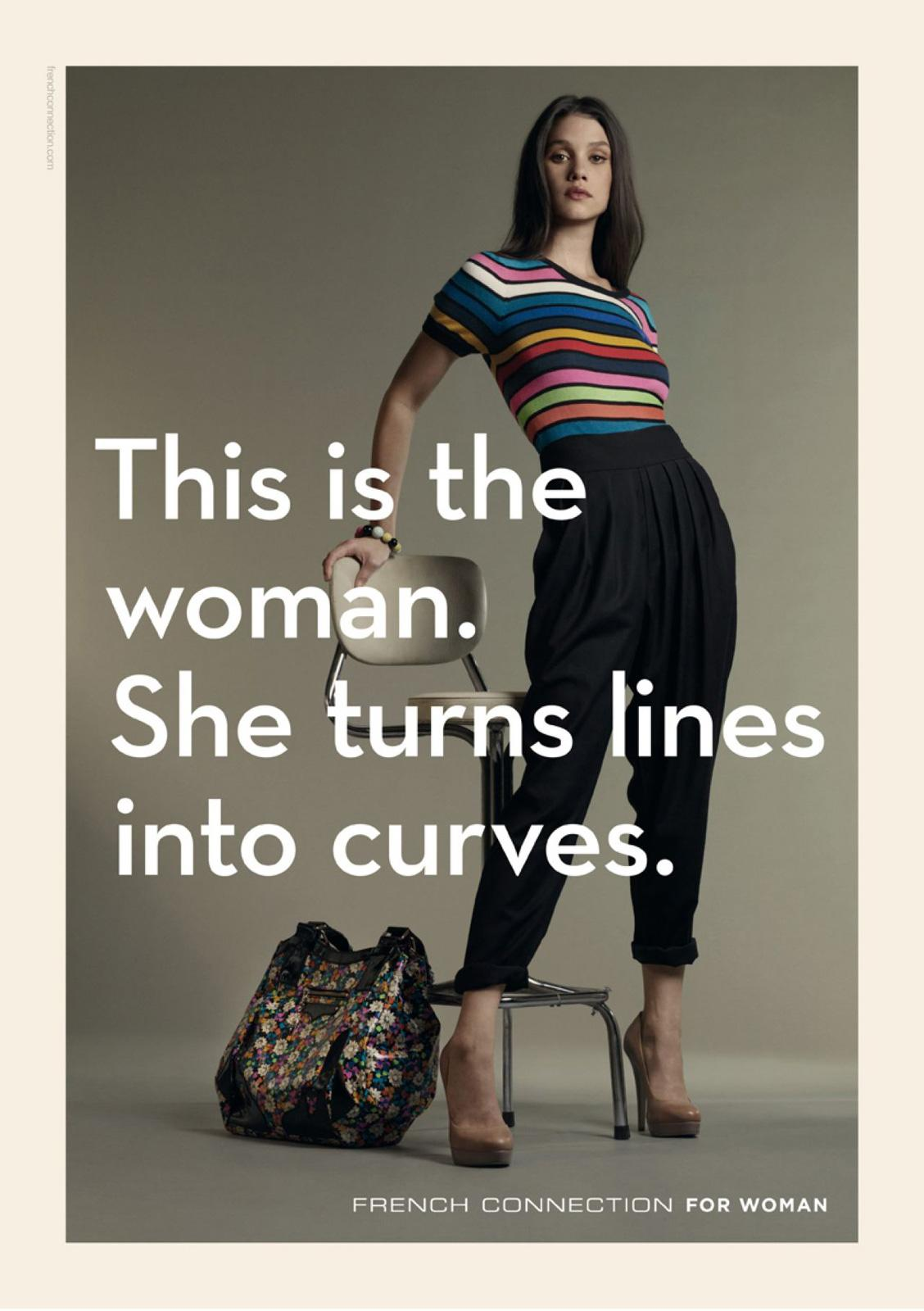 French Connection Print Ad -  Curves