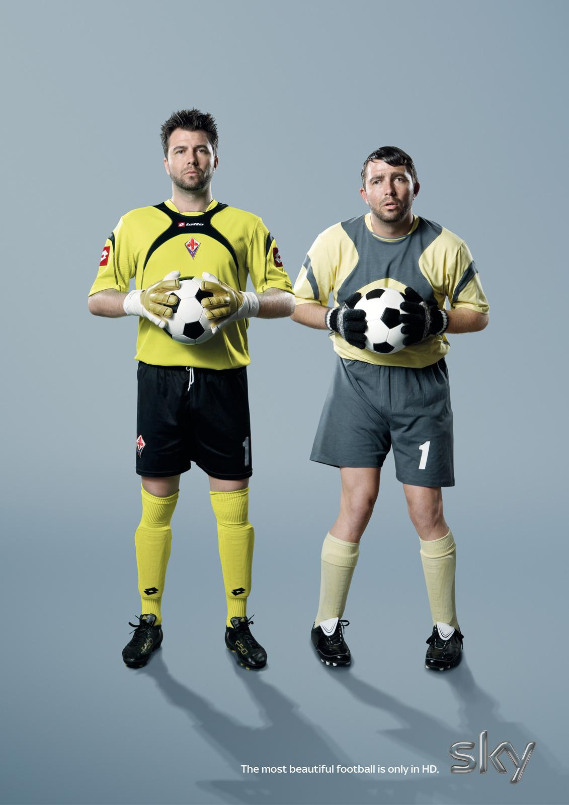 SKY Print Ad -  The most beautiful football, Frey