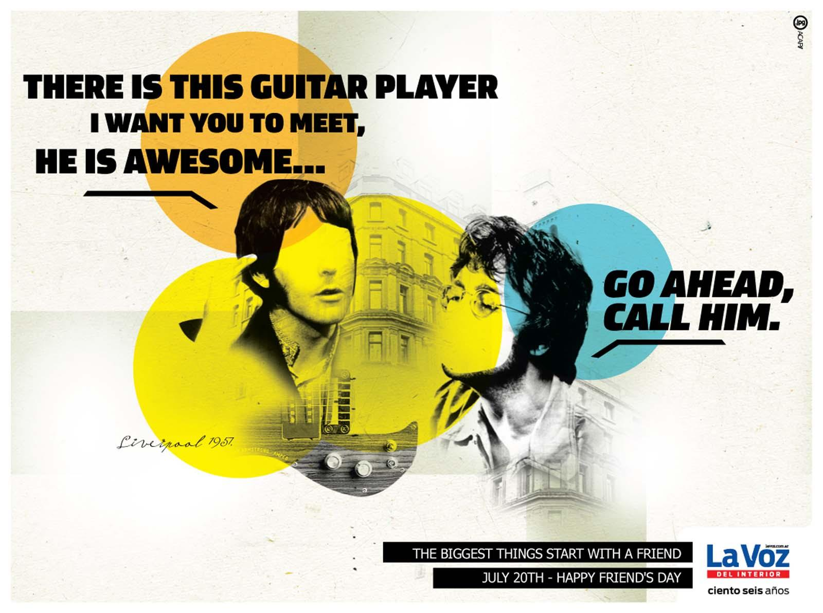 La Voz del Interior Print Ad -  Guitar Player