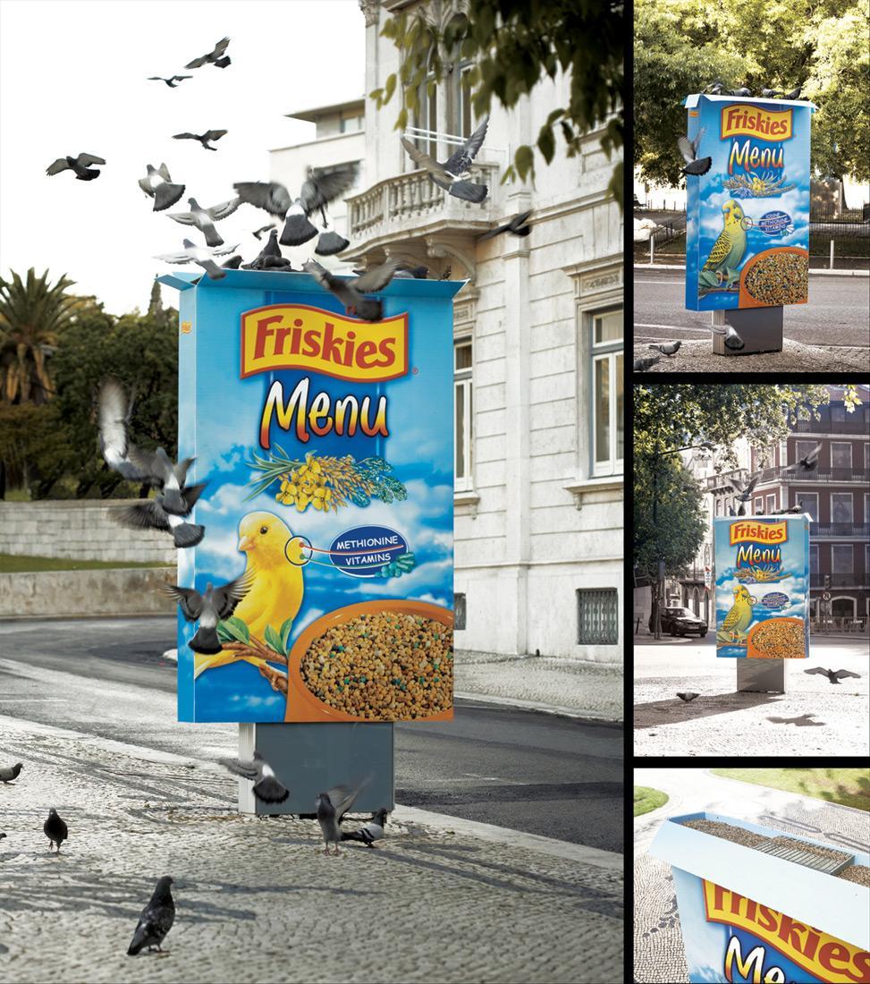 Friskies Ambient Ad -  Citylight