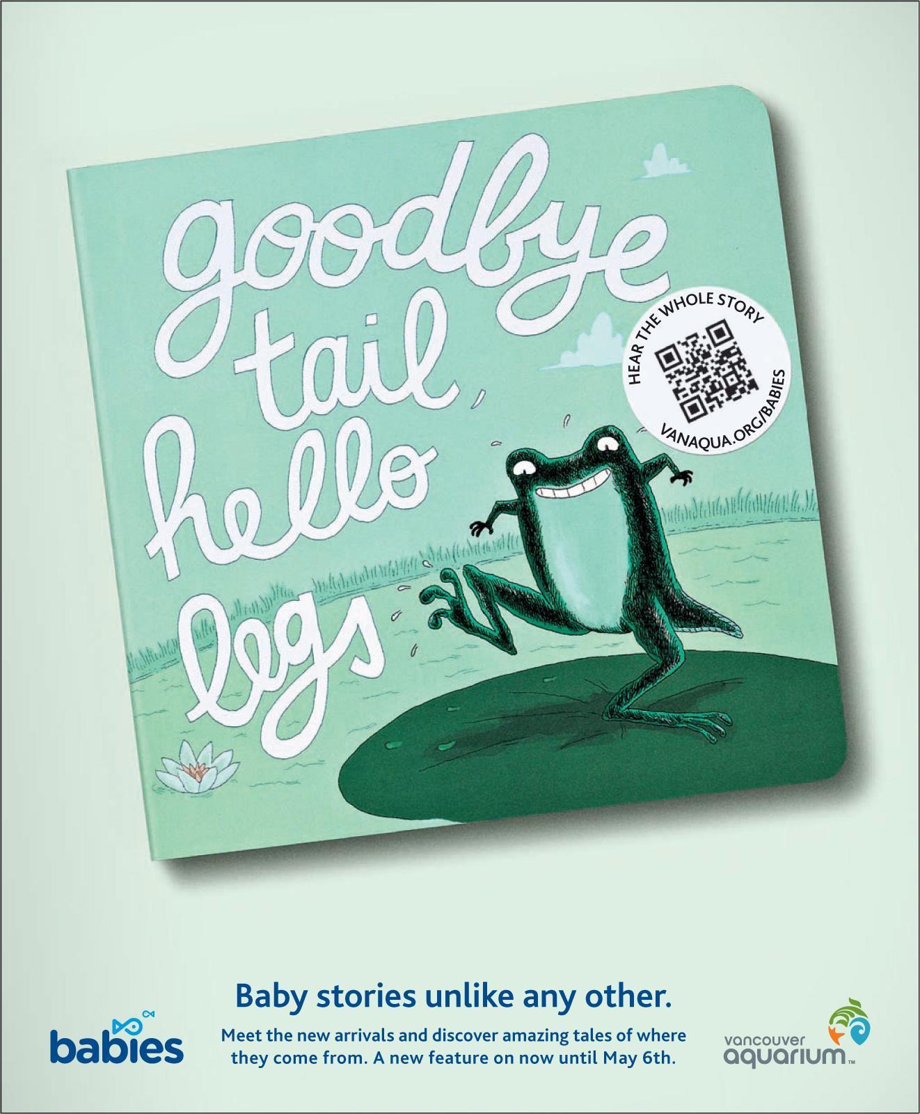 Vancouver Aquarium Print Ad -  Frog