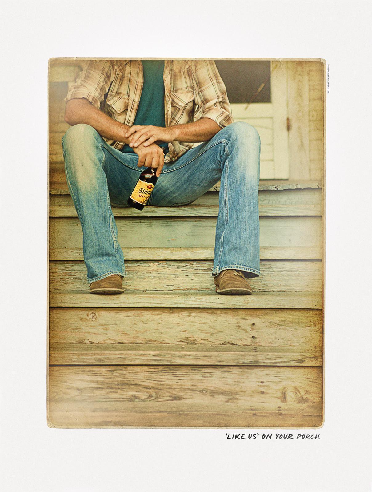 Shiner Bock Print Ad -  Front Porch