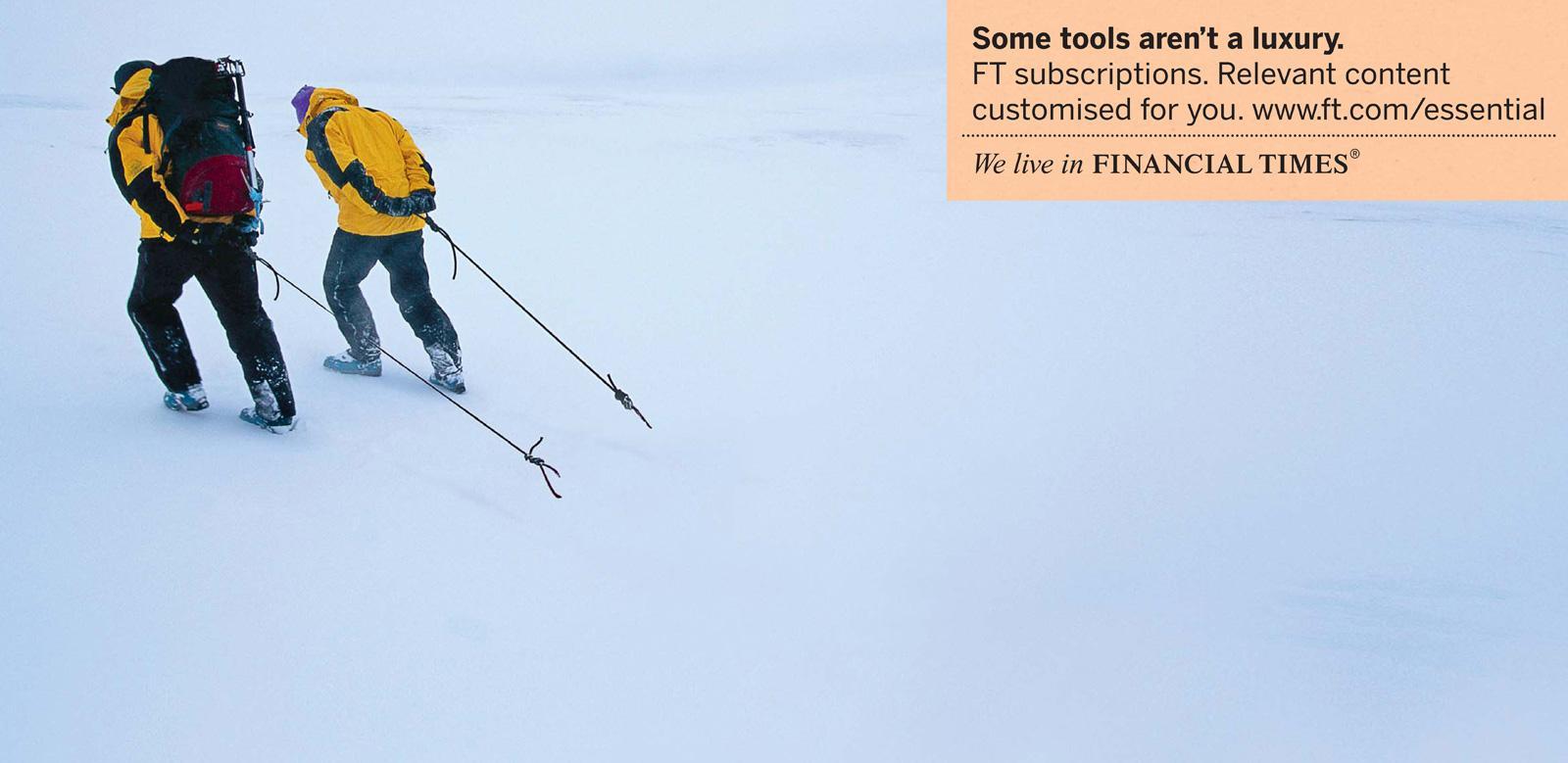 Financial Times Print Ad -  Essential, Explorer