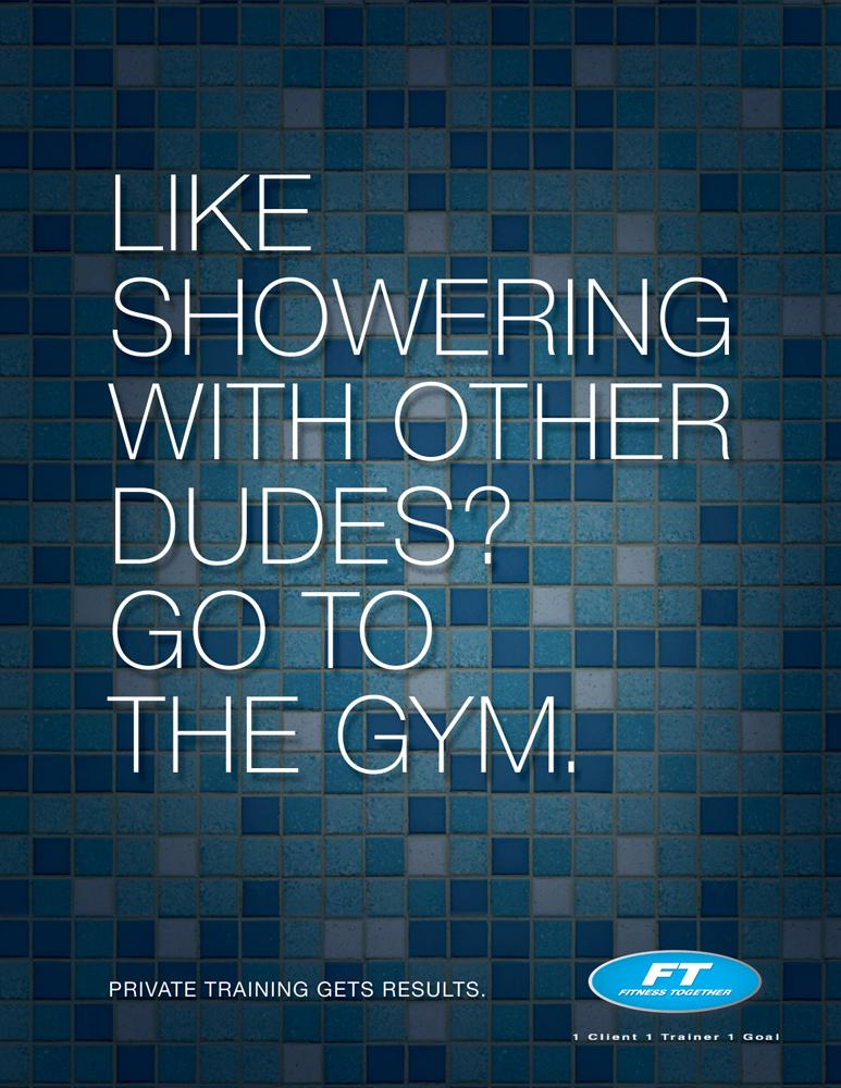 Fitness Together Print Ad -  Dudes