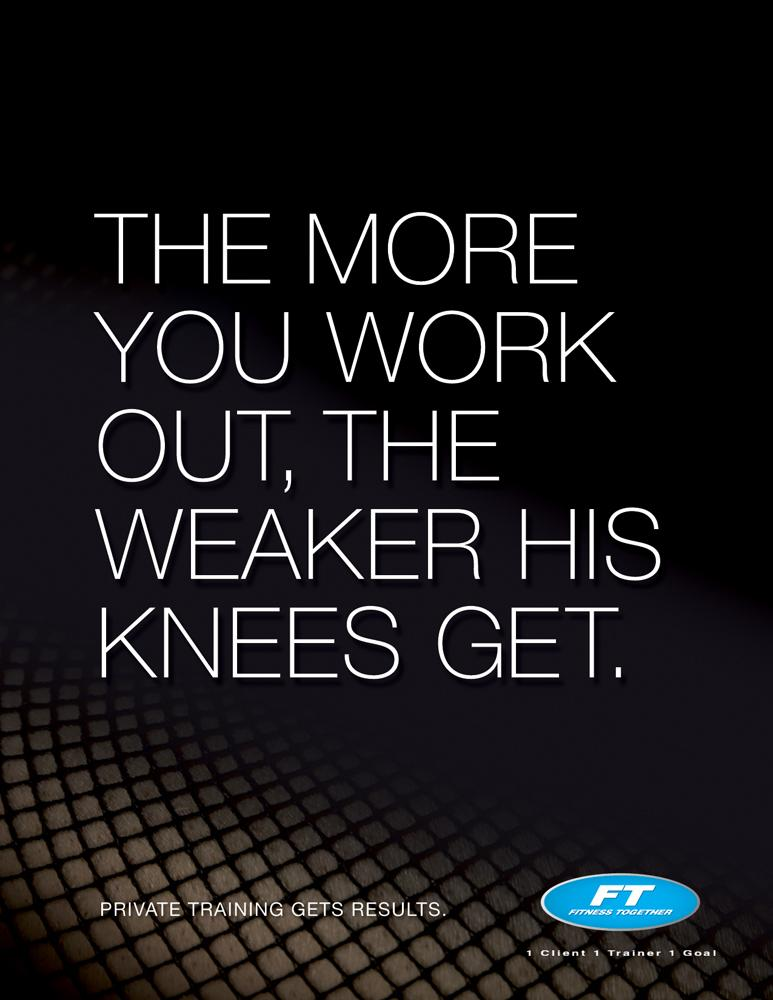 Fitness Together Print Ad -  Knees