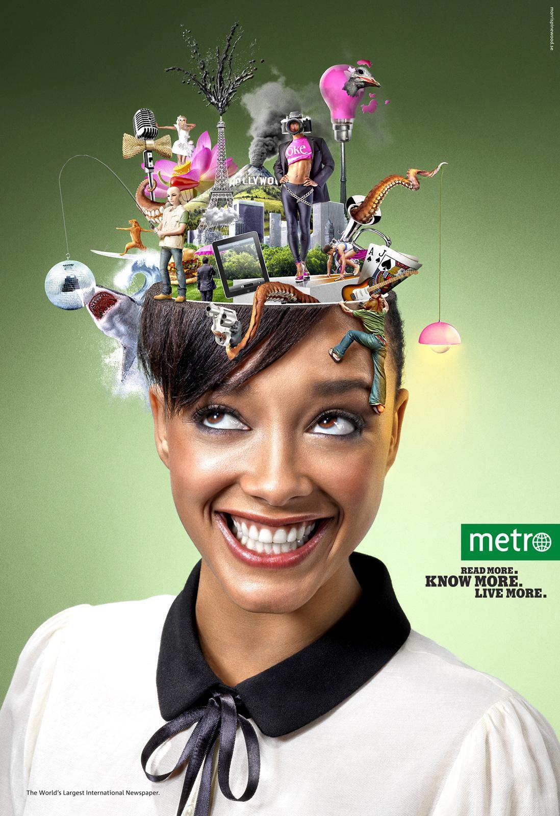 Metro Print Ad -  Experience, 1