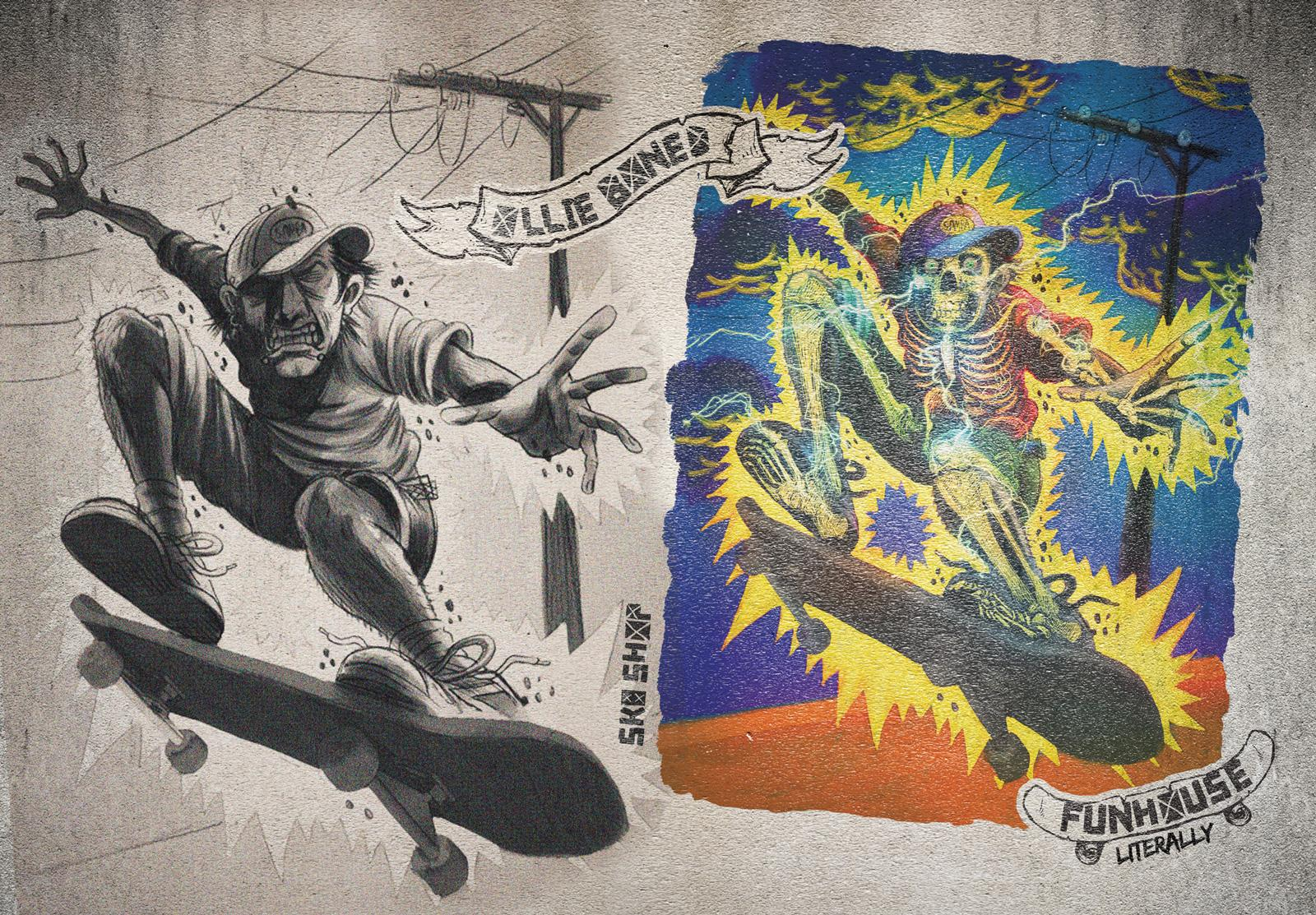 Funhouse SK8 Print Ad -  Ollieboned