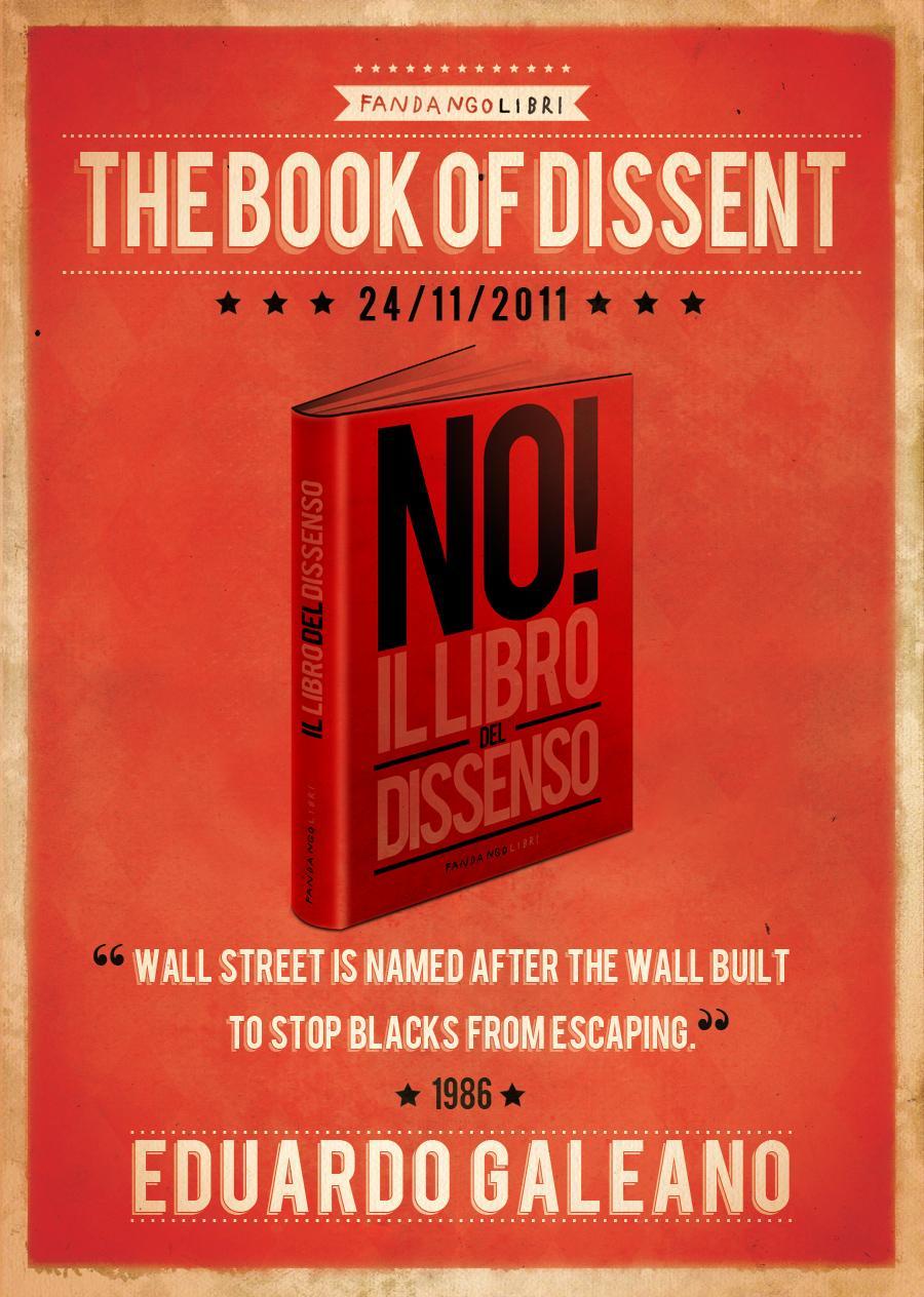 Fandango Libri Print Ad -  The book of dissent, Eduardo Galeano