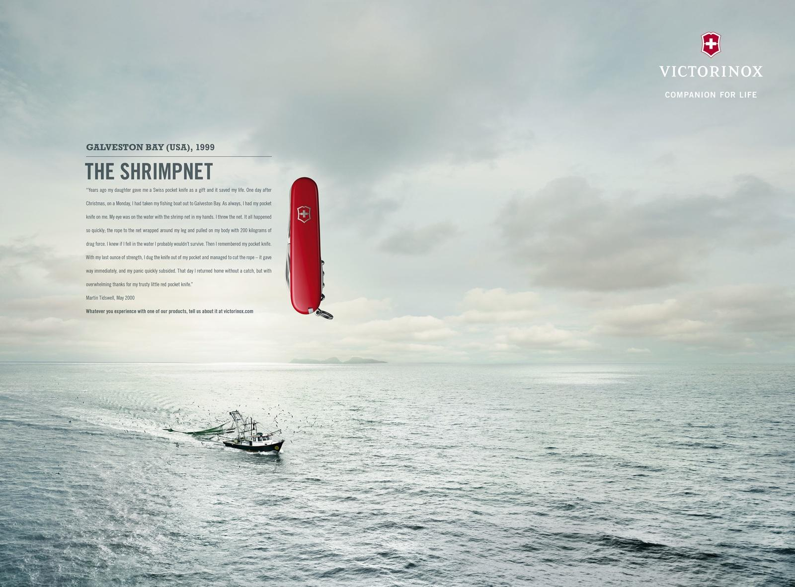 Victorinox Print Ad -  Fan Letters, Galveston Bay
