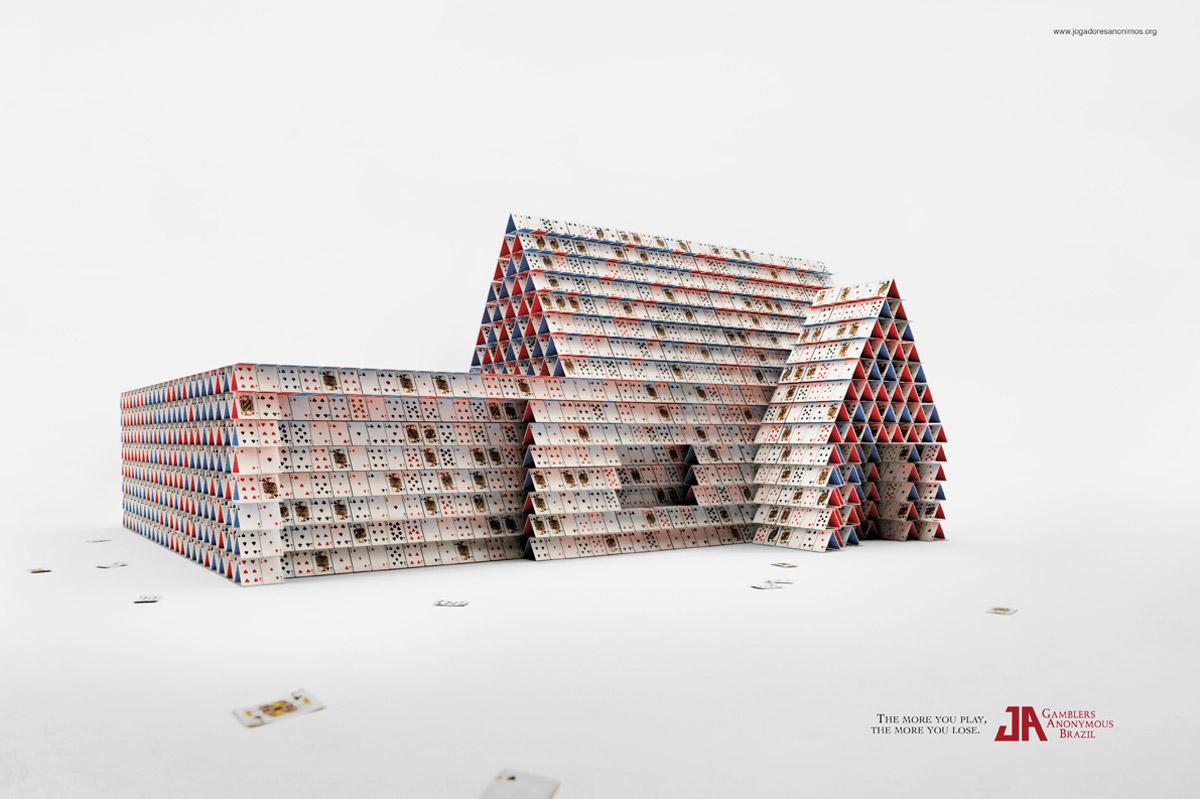 Gamblers Anonymous Print Ad -  House