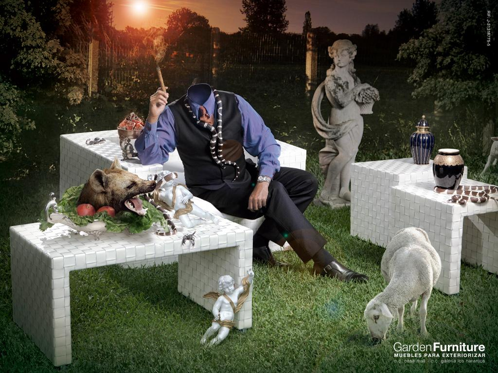 Garden Furniture Print Ad -  Dinner