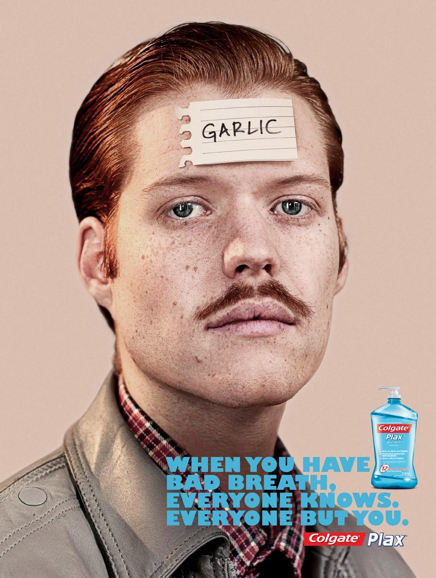 Colgate Print Ad -  Garlic