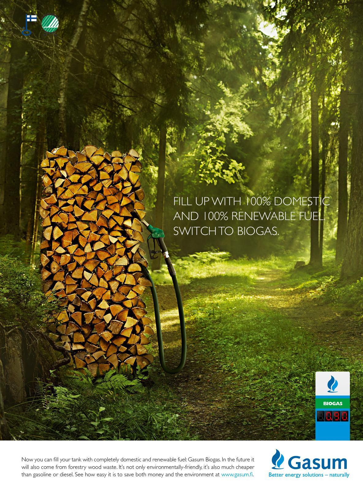 Gasum Print Ad -  Wood