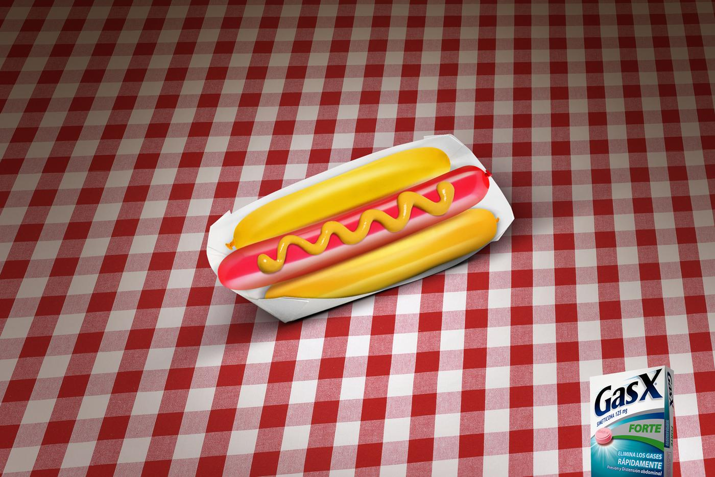 GasX Print Ad -  Hot dog