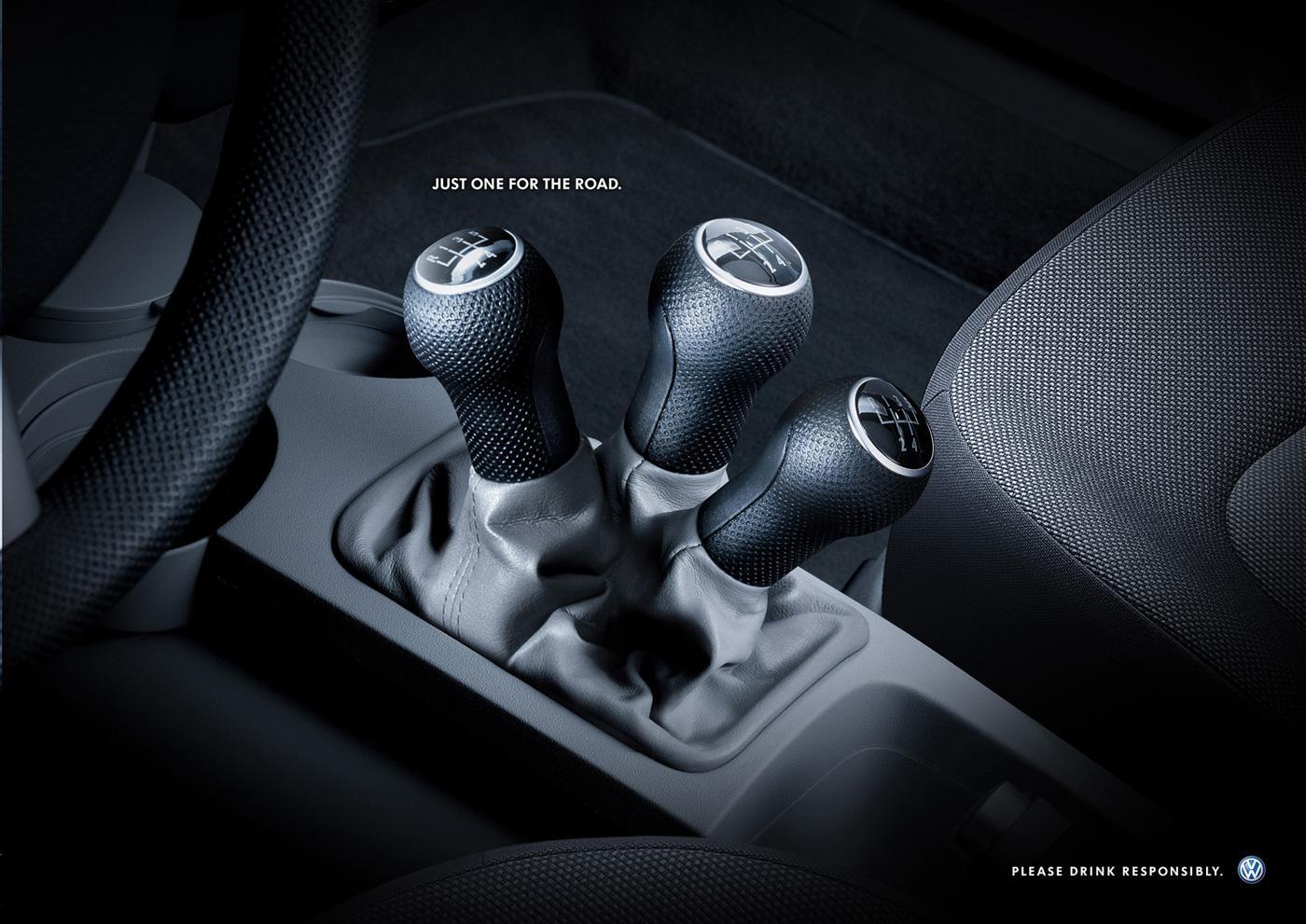 Volkswagen Print Ad -  Gear levers