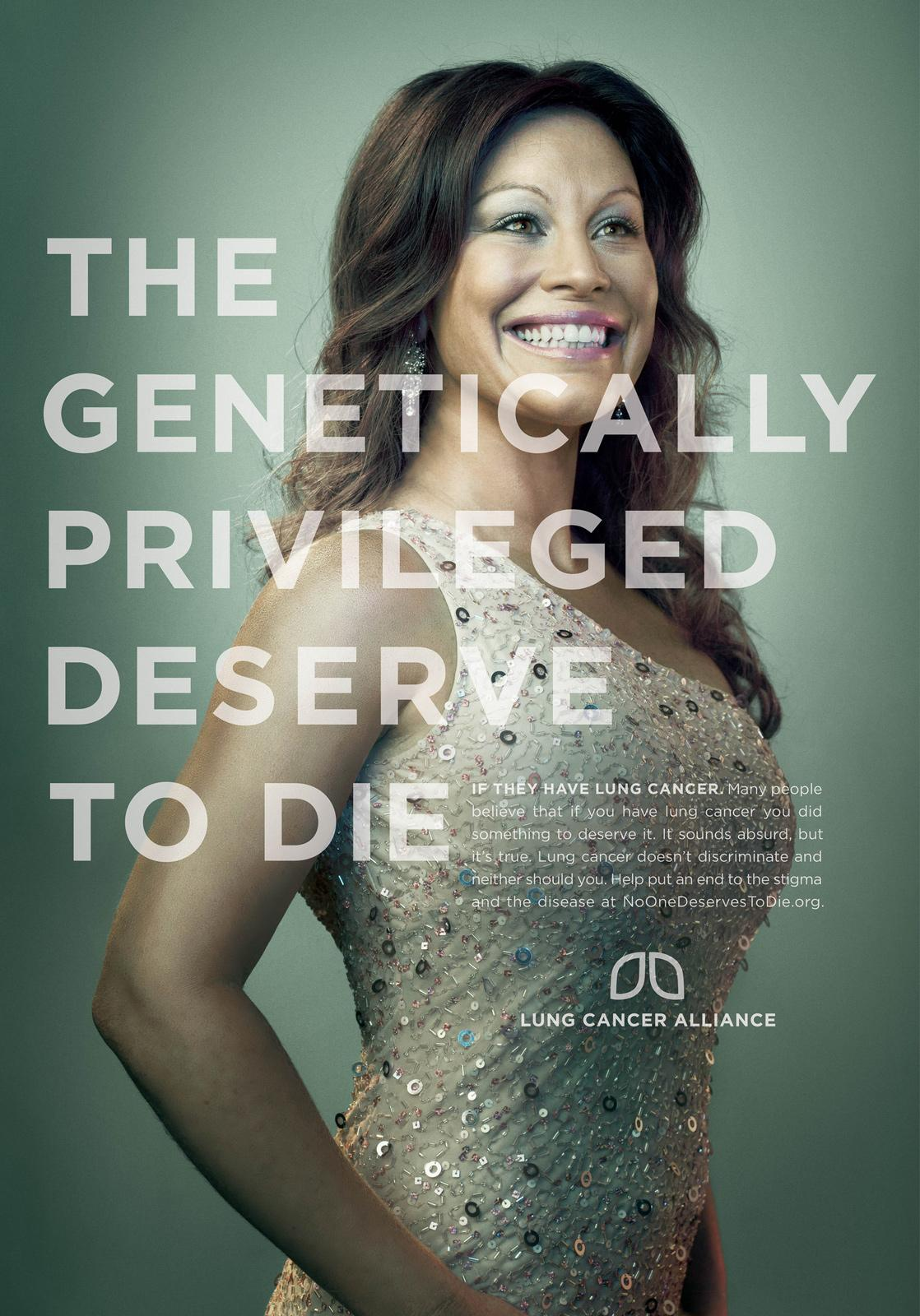 Lung Cancer Alliance Print Ad -  Genetically Privileged