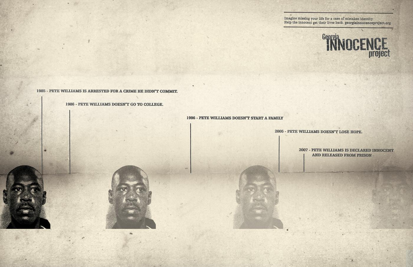 Georgia Innocence Project Print Ad -  Pete Williams
