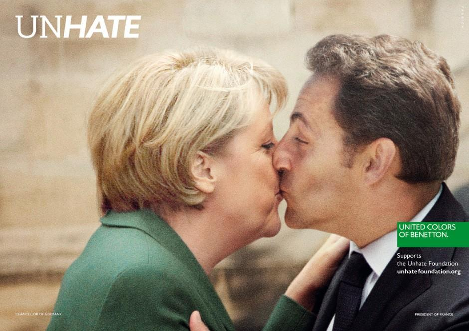 Benetton Print Ad -  Unhate, Germany-France