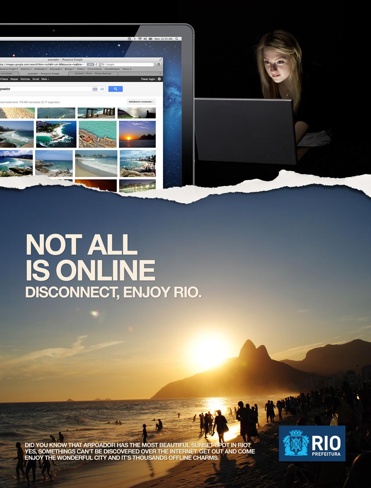 City of Rio de Janeiro Print Ad -  Disconnect