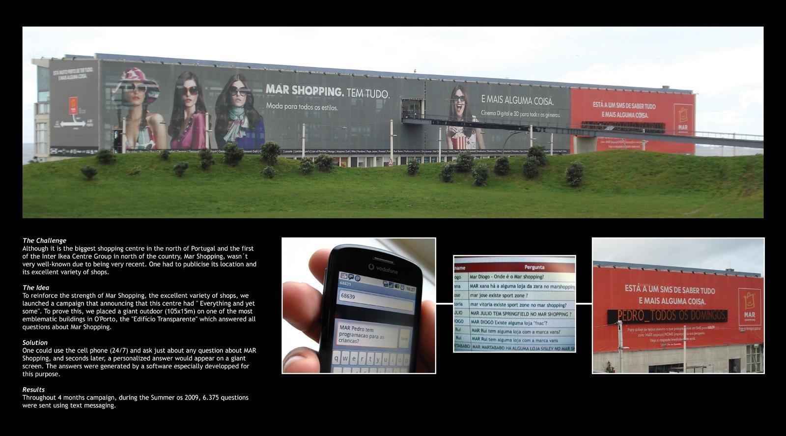 MAR Shopping Outdoor Ad -  Giant interactive outdoor