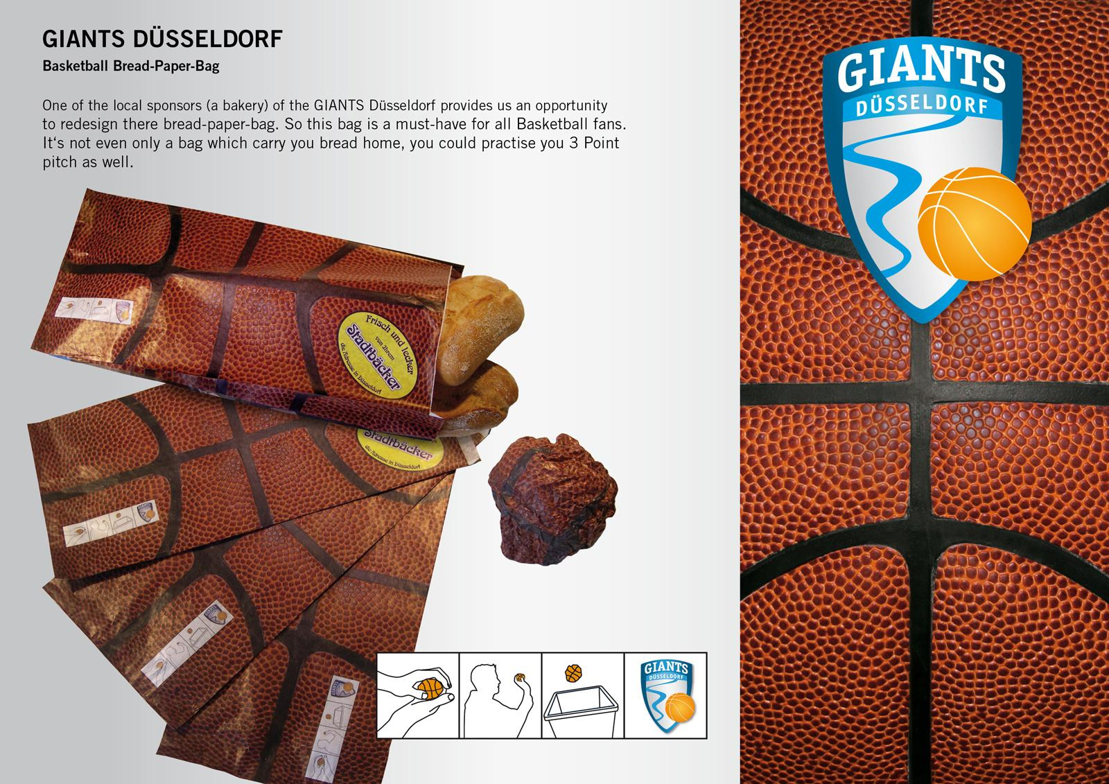 Giants Direct Ad -  Basketball Bread-Paper-Bag