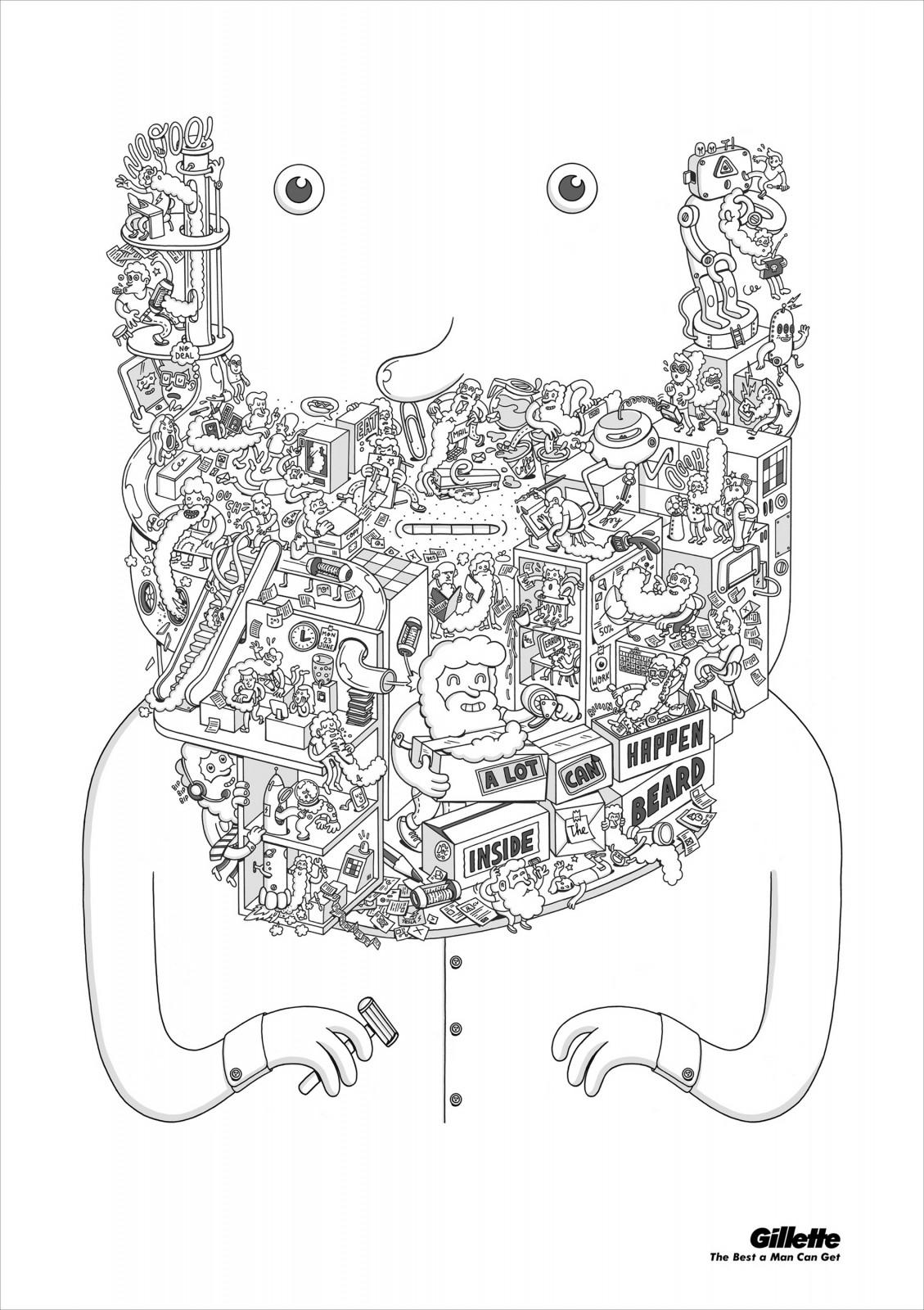 Gillette Print Ad -  What's in a Beard, 1