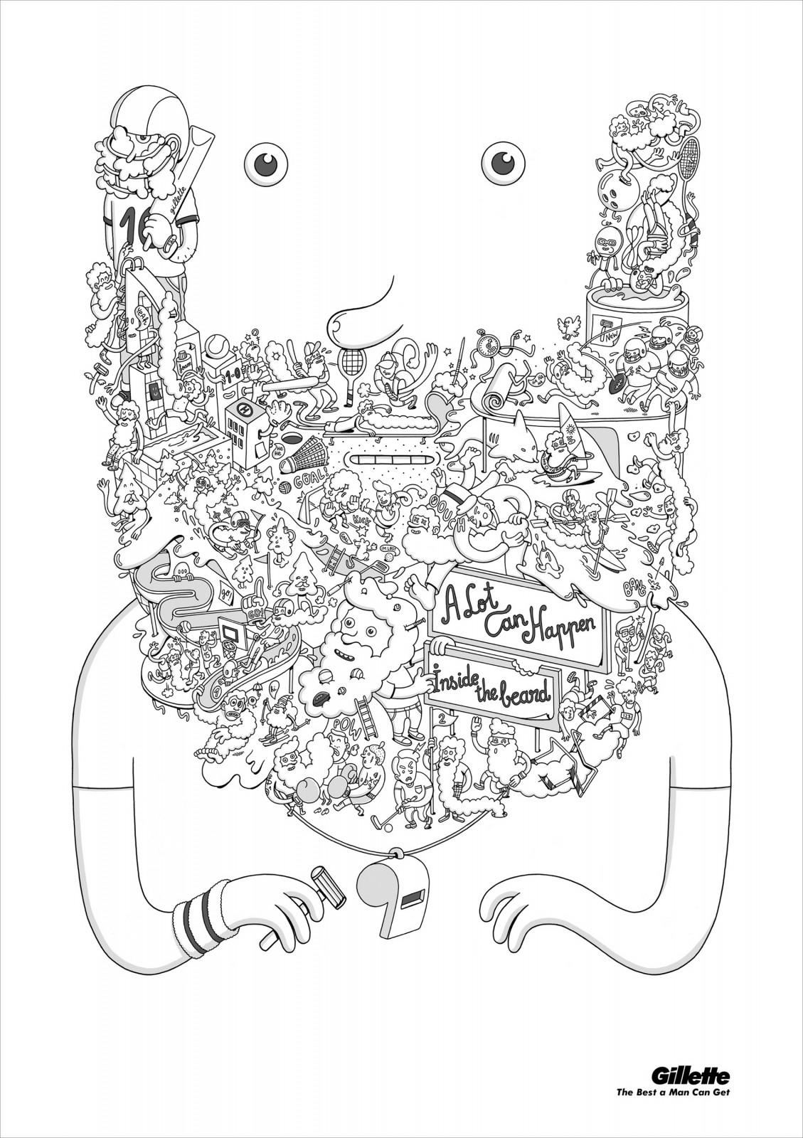 Gillette Print Ad -  What's in a Beard, 2