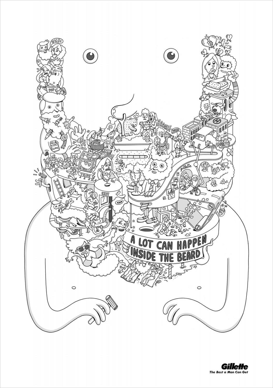Gillette Print Ad -  What's in a Beard, 3
