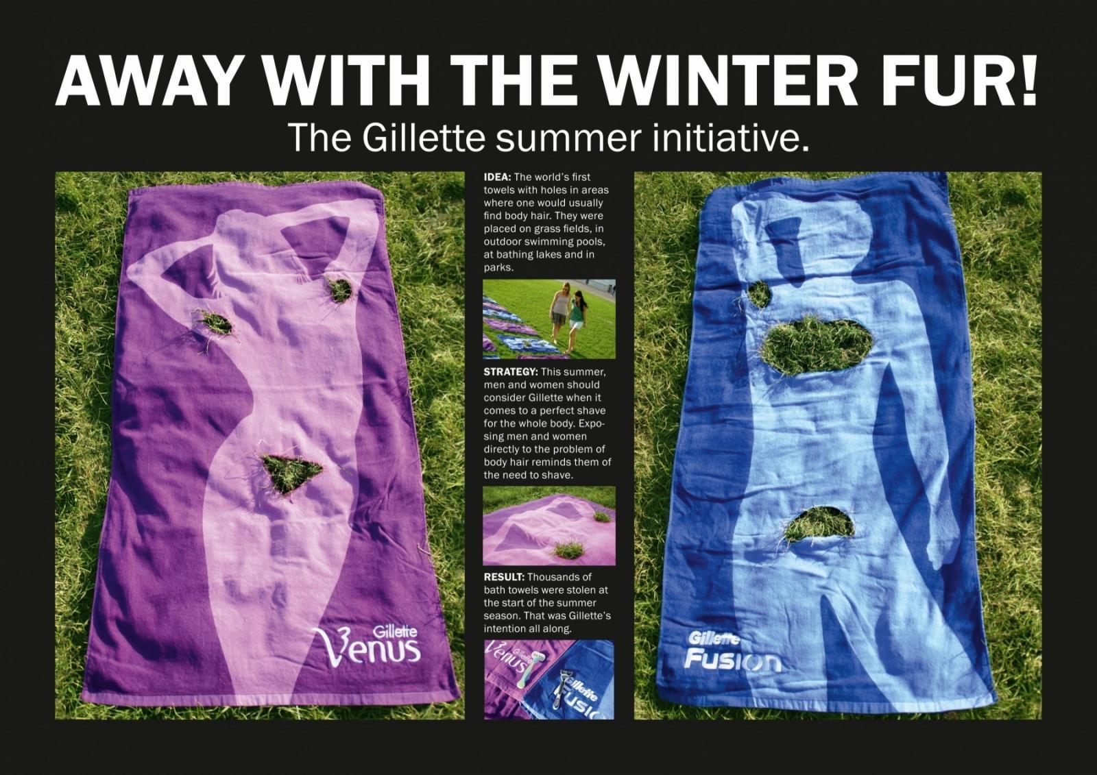 Gillette Ambient Ad -  Fur Fur Away Towels