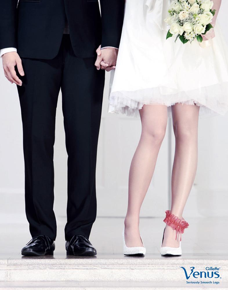 Venus Print Ad -  Seriously smooth legs, Wedding