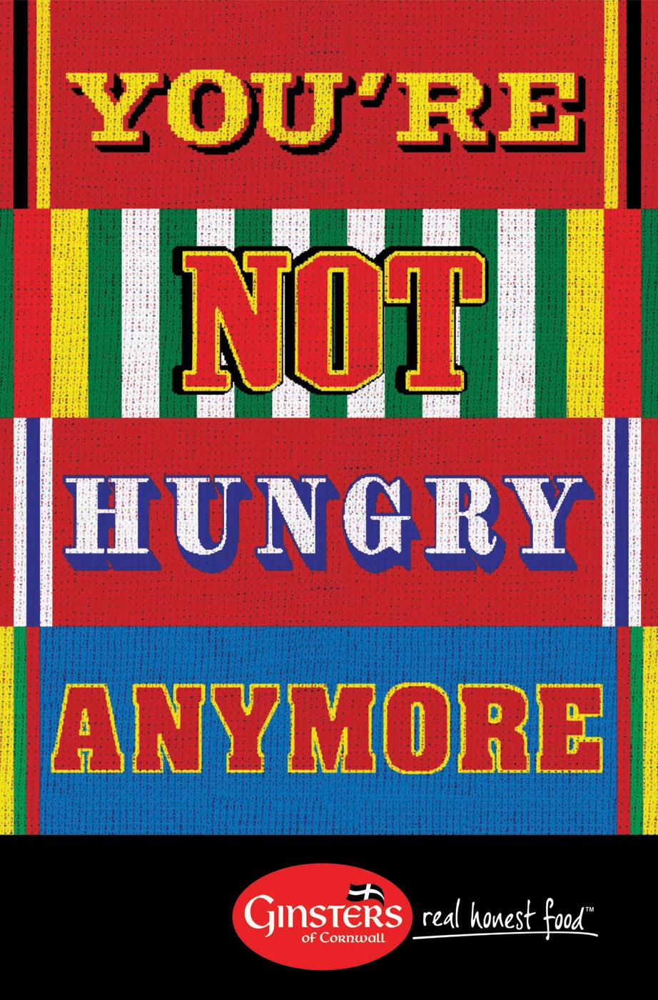 Ginsters Print Ad -  Not hungry