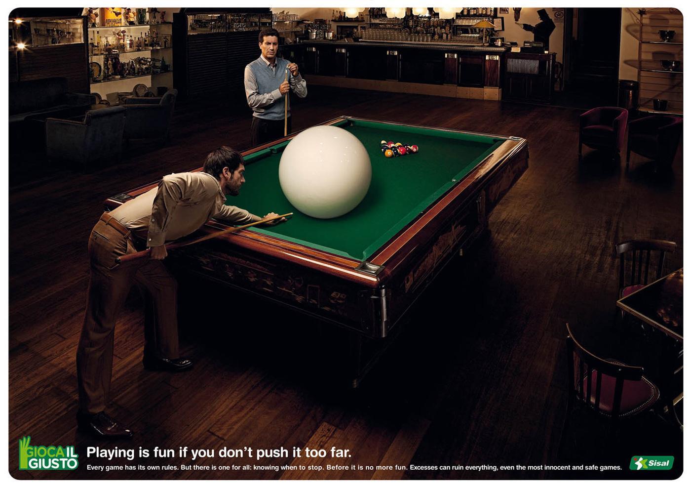 Sisal Print Ad -  Billiard