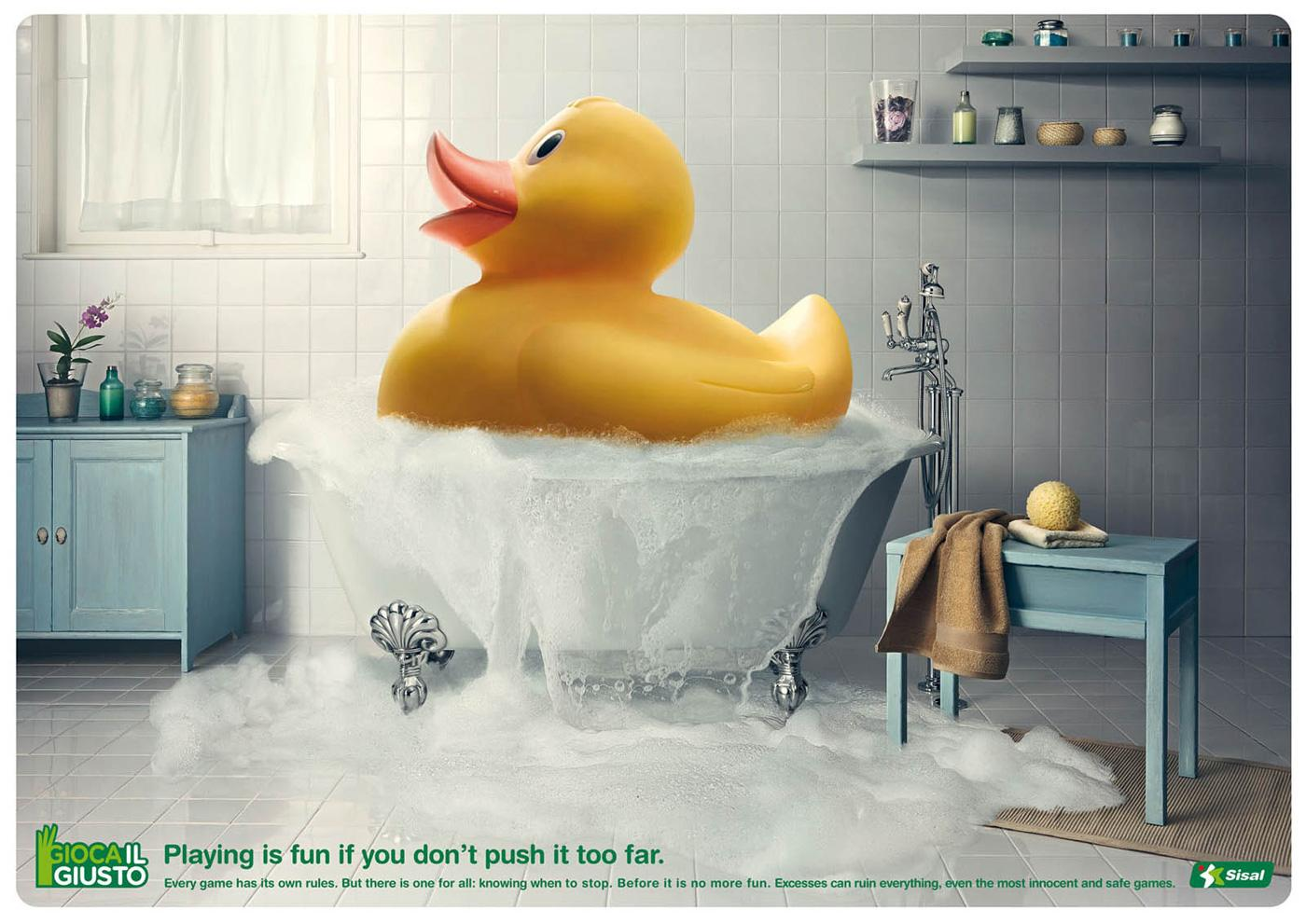 Sisal Print Ad -  Rubber duck