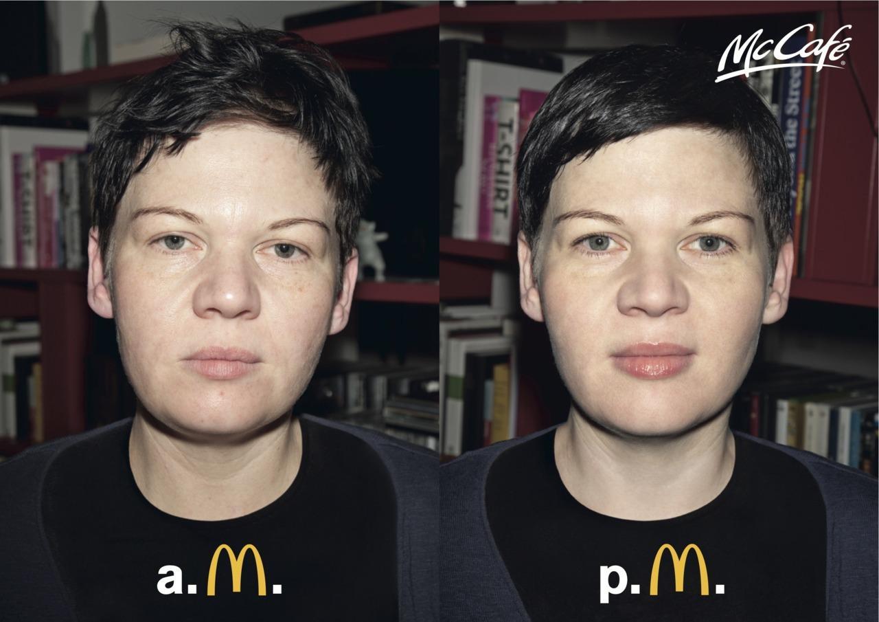 McDonald's Print Ad -  AM–PM, Girl 2